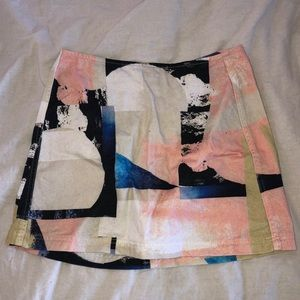 Urban Outfitters abstract mini skirt